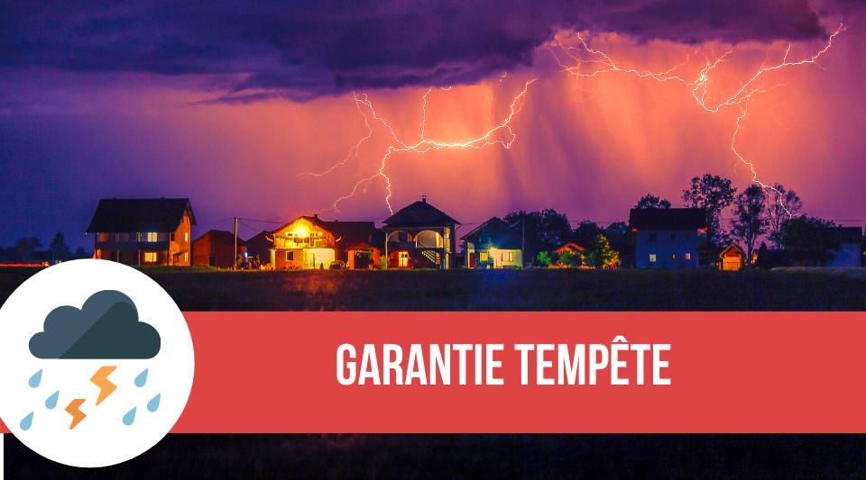 garantie tempête contenue dans une police d'assurance en habitation